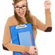 Female student wearing glasses — Stock Photo #27897785
