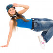 Girl dancing hip-hop — Stock Photo #27946289