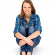 Casual woman sitting — Stock Photo #27947159