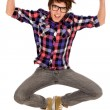 Stock Photo: Young man jumping