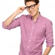 Young man wearing glasses — Stock Photo #27949705
