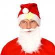 Santa looking up — Stock Photo #27995679