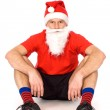 Man in Santa hat sitting — Stock Photo #27995795