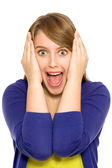Girl screaming — Stockfoto