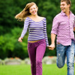 Stock Photo: couple running