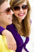 Young couple smiling — Stock Photo