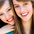 Two friends hugging — Stock Photo #28043113