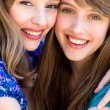 Two friends hugging — Stock Photo