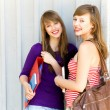 Young women carrying books — Stock Photo #28044283