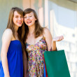 Friends with shopping bags — Foto de Stock