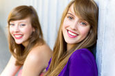 Young women smiling — Stock Photo