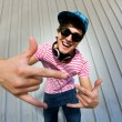 Stock Photo: Teenager gesturing