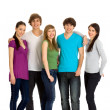 Five young friends standing together — Stock Photo #28074537