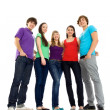 Five young friends standing together — Stock Photo #28074805