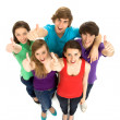 Stock Photo: Teens With Thumbs Up