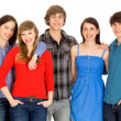 Five young friends standing together — Stock Photo #28075367