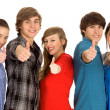 Teens With Thumbs Up — Stock Photo