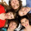 Five Young Teenagers — Stockfoto
