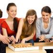 Friends Eating Pizza — Foto Stock #28076295
