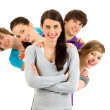 Five young friends — Stock Photo