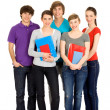 Students holding books — Stock Photo #28076591