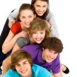 Stock Photo: Group of young friends