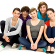 Foto Stock: Group of young friends