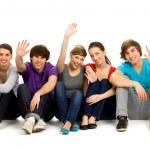 Friends waving — Stock Photo #28076641