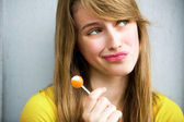 Cute Girl with Lollipop — Stock Photo