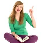 Girl reading book — Stock Photo #28187151