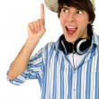 Young man pointing — Stock Photo #28197017