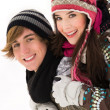 Stok fotoğraf: Winter couple