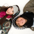 Stock Photo: Young couple in winter clothing