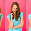 Young woman making funny faces — Stock Photo