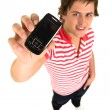 Young mwith cell phone — Stock Photo #28207989