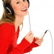 Young woman with MP3 player — Stock Photo #28209097