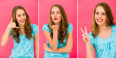 Emotions of a beautiful girl — Stock Photo