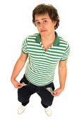 Young Man with Empty Pockets — Stock Photo