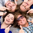Teens With Thumbs Up — Stock Photo #28210243