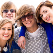 Happy young friends — Stock Photo #28211793