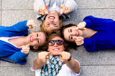 Teens pointing their fingers — Foto Stock