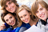Four young friends — Stock Photo