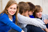 Four Young Teenagers — Stock Photo