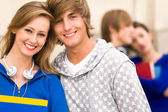 Student couple — Stock Photo