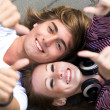 Teens With Thumbs Up — Stock Photo #28260429
