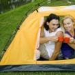 Stock Photo: Couple in tent