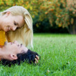 Couple Lying on the Grass — Stock Photo #28270745