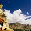 Stock Photo: Buddhstatue and Himalayas, Ladakh, India