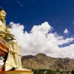 Buddha statue and Himalayas, Ladakh, India — Stock Photo