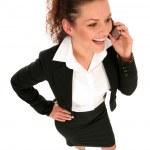 Businesswoman talking on the phone — Stock Photo